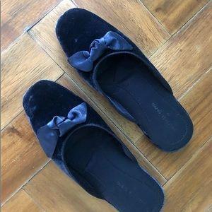 NWOT Velvet Blue Slippers